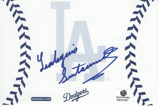 Leo Santa Cruz Signed Autographed Postcard Boxer LA Dodgers GX31407