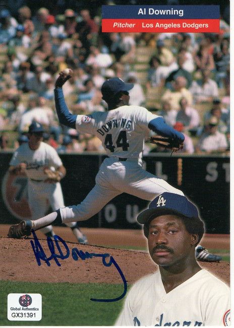 Al Downing Signed Autographed Postcard Los Angeles Dodgers GX31391