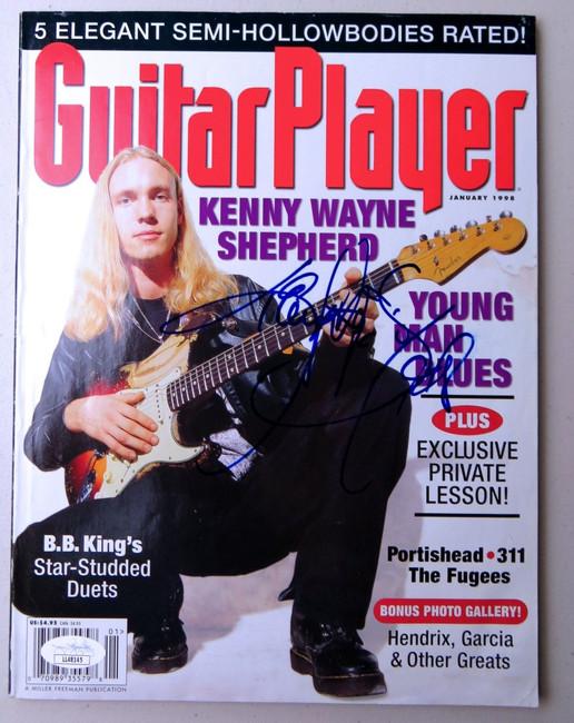 Kenny Wayne Shepherd Signed Autographed Magazine Guitar Player JSA LL48145