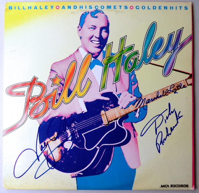Bill Haley's Comets Band Signed Autographed Record Album Cover  JSA LL48099