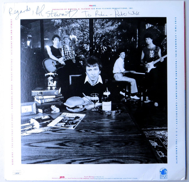 Al Stewart Signed Autographed Record Album Cover Russians Americans JSA LL48098