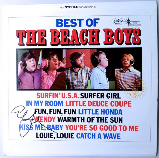 Al Jardine Signed Autographed Record Album Cover The Beach Boys JSA LL48095
