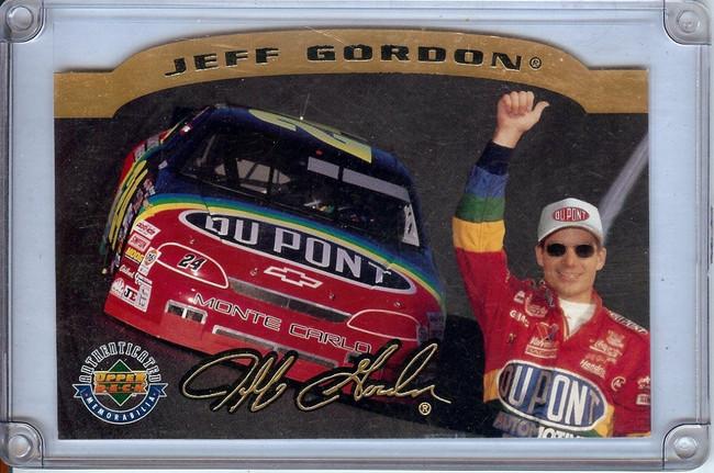 Jeff Gordon 1996 Upper Deck Oversize Die-Cut Limited Edition UDA # #/2500