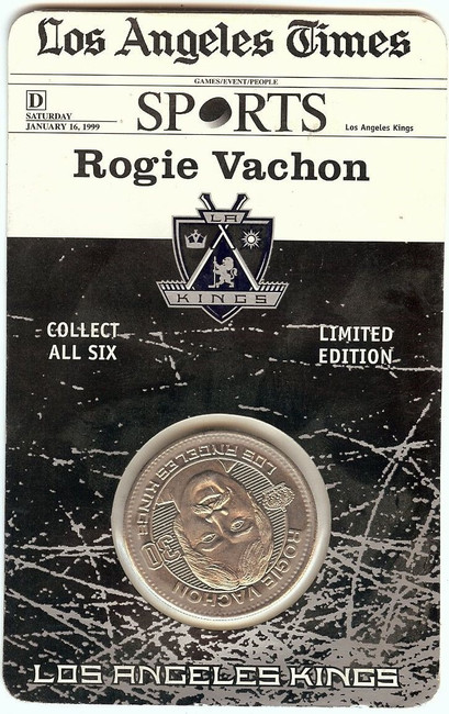 Roggie Vachon1998-99 Limited Coin Los Angeles Kings Forum Last Season