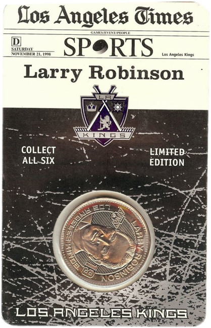 Larry Robinson1998-99 Limited Coin Los Angeles Kings Forum Last Season