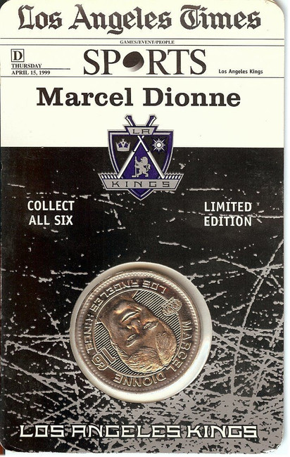 Marcel Dionne1998-99 Limited Coin Los Angeles Kings Forum Last Season