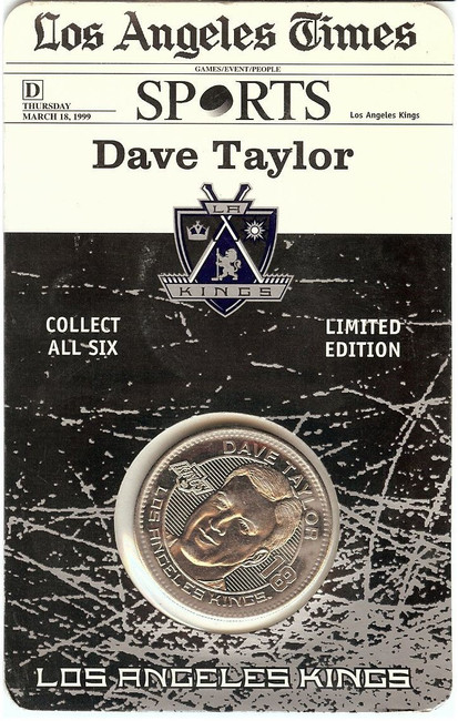 Dave Taylor1998-99 Limited Coin Los Angeles Kings Forum Last Season