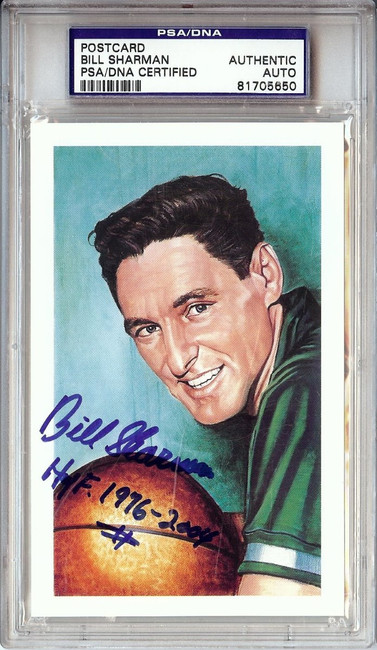 Bill Sharman Signed Autographed Postcard Celtics HOF 1976-2004 PSA/DNA 81705650