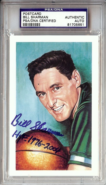 Bill Sharman Signed Autographed Postcard Celtics HOF 1976-2005 PSA/DNA 81705651