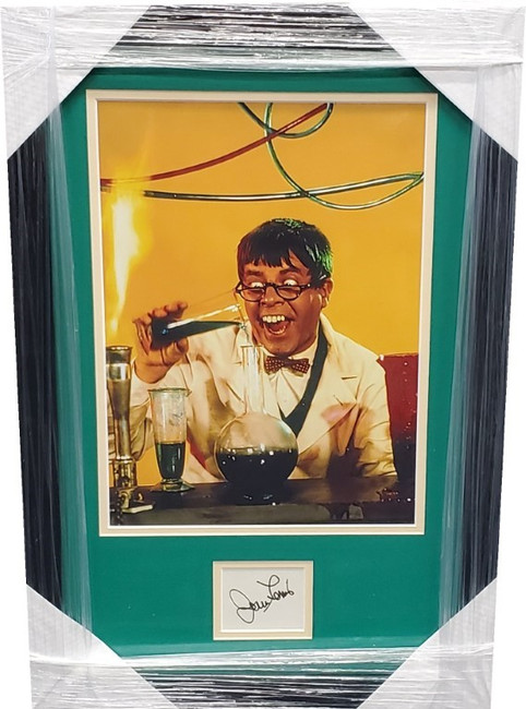 Jerry Lewis Signed autographed Cut with 8x10 Photo The Nutty Professor GA