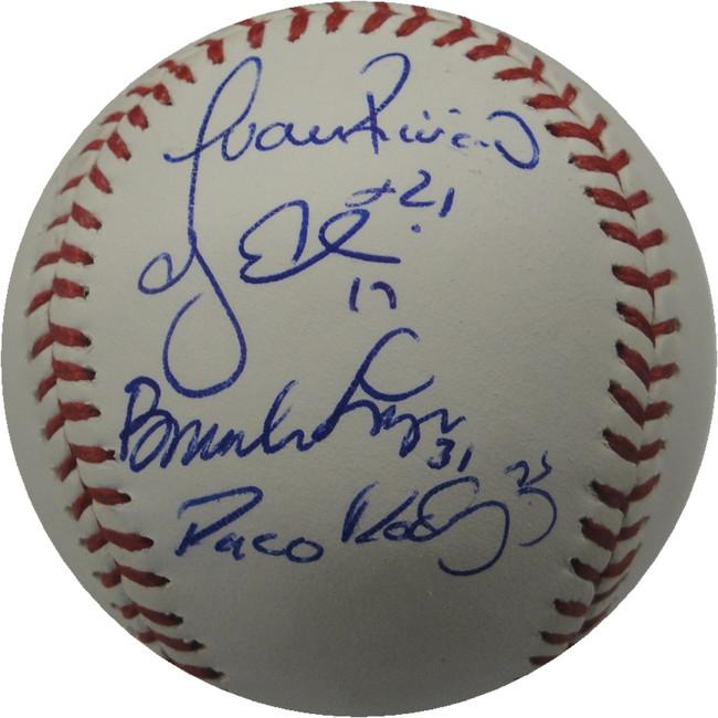 2012 Dodgers PartialTeam Signed Baseball Scott Van Slyke Ellis De La Rosa