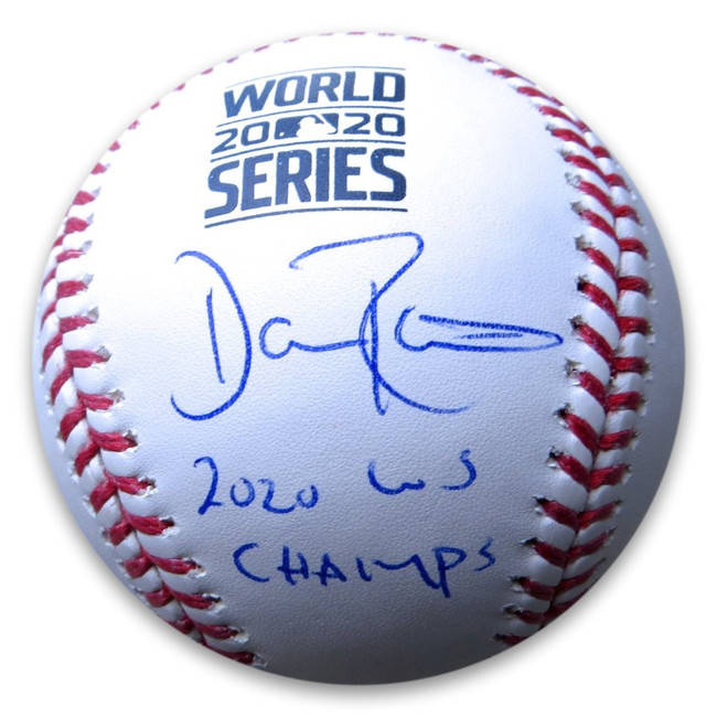 "Dave Roberts Signed Autograph Baseball 2020 World Series ""WS Champs"" Dodgers MLB"