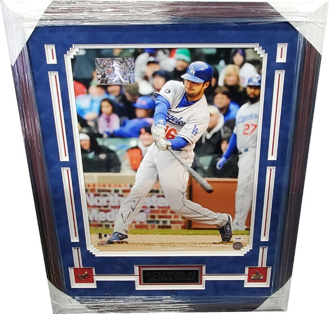 Andre Ethier Hand Signed Autograph 16X20 Exquisite Custom Framed Photo PSA/DNA