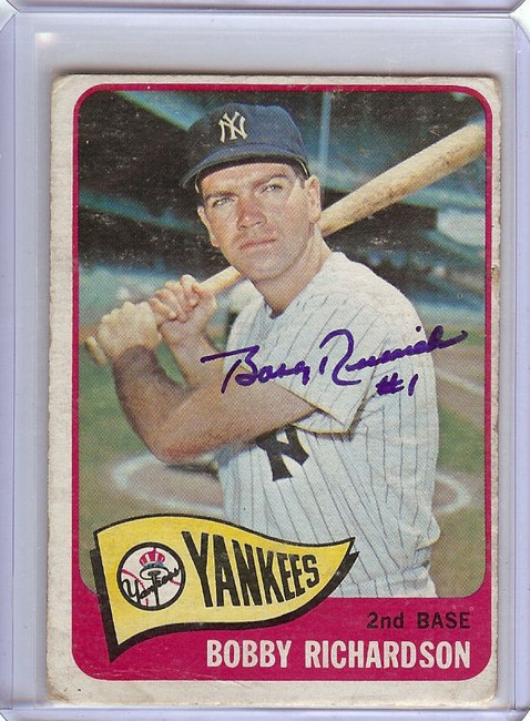 Bobby Richardson 1965 Topps Signed Autograph New York Yankees #115 GX31494