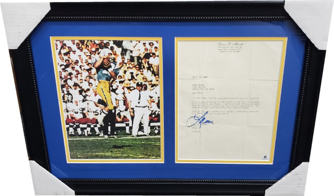 Lance Alworth Autographed Letter Framed W Photo San Diego Chargers GA GX30452