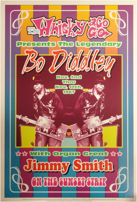 Bo Diddley With Jimmy Smith Whisky a Go Go 13x19 UNSIGNED Poster Sunset Strip
