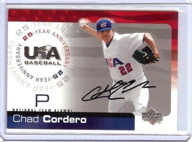 Chad Cordero 2004 Ud Team Usa 25Th Card Auto Autograph