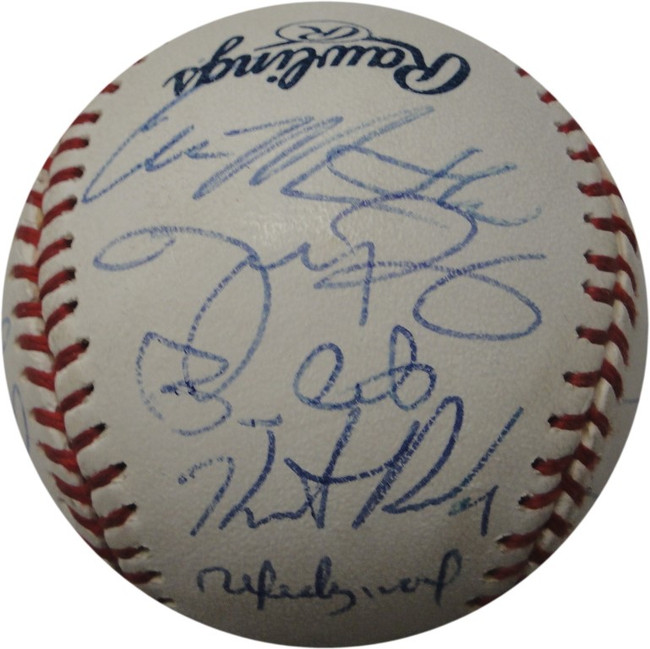 Adrian Gonzalez Chris Young Hand Signed Autographed Major League Baseball Padres