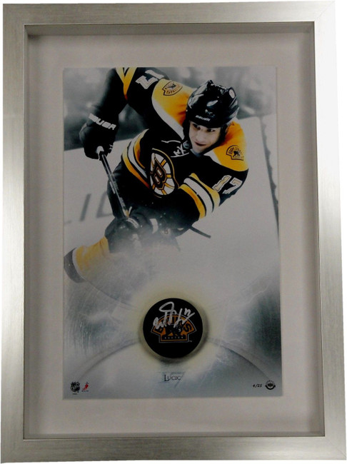 "Milan Lucic Signed Autographed Custom Framed Shadow Box 17""x23"" UDA 5/25"