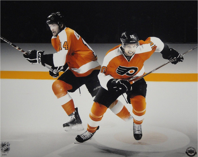 Sean Couturier Brayden Schenn Unsigned 8x10 Photo Philadelphia Flyers UDA