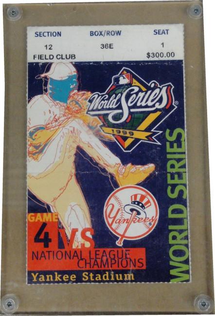 1999 World Series Ticket Stub of New York Yankees Gave 4 USED CREASED