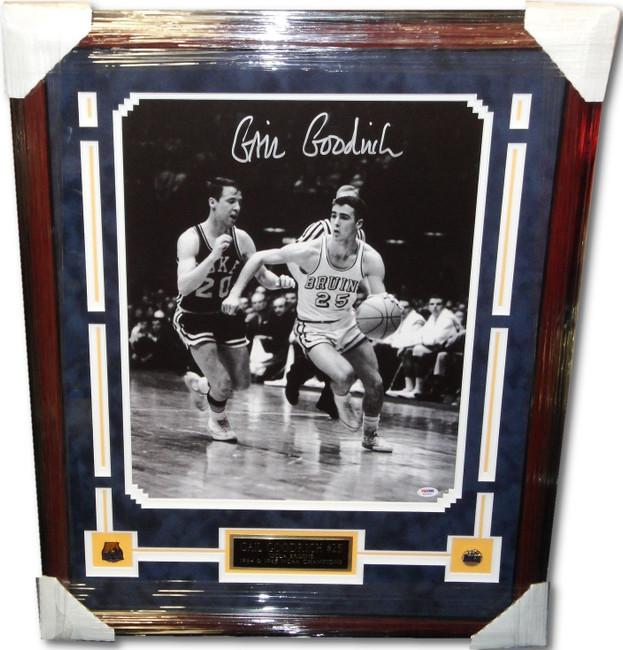 Gail Goodrich Signed Autograph 16x20 Photograph Custom Framed Lakers PSA/DNA