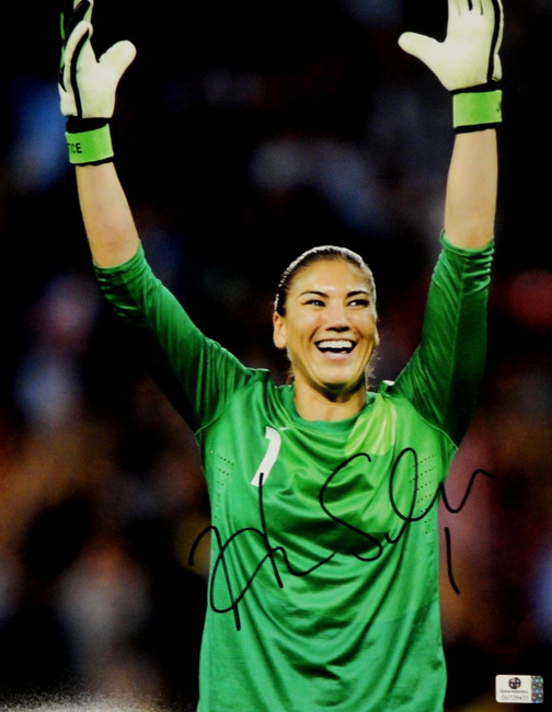 Hope Solo Signed Autographed Jumbo 11x14  Photo GA USA 2012 Olympic Gold 728433