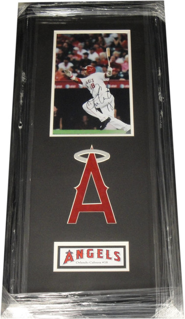 Orlando Cabrera Hand Signed Autographed 8x10 Custom Framed Photos Angels COA