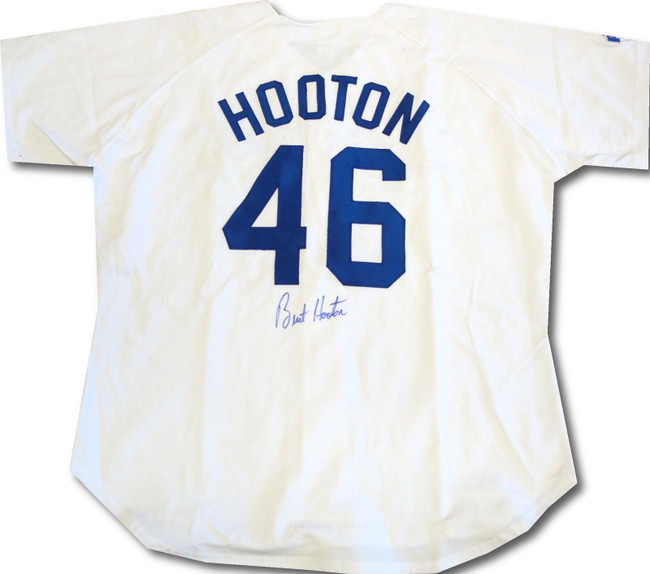 Burt Hooton Signed Autographed Los Angeles Dodgers Jersey #46 PSA/DNA