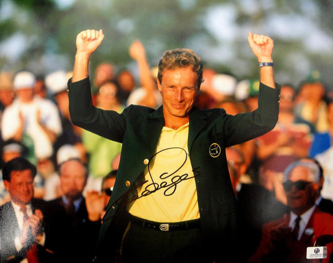 Bernhard Langer Hand Signed Autographed 11x14 Photo Golf Masters GA 750516