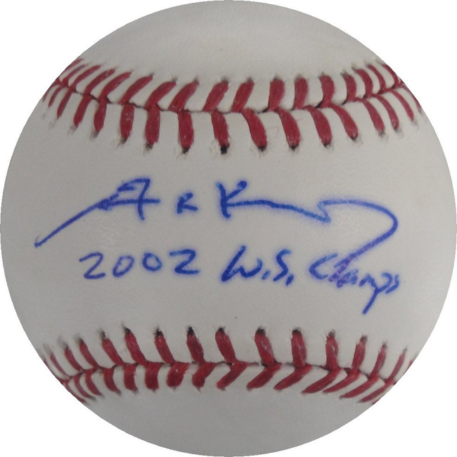 Adam Kennedy Hand Signed Autographed Baseball 2002 World Series Champs PSA/DNA
