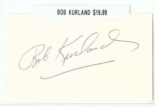 Bob Kurland Signed Index Card Auto Autograph Oklahoma A