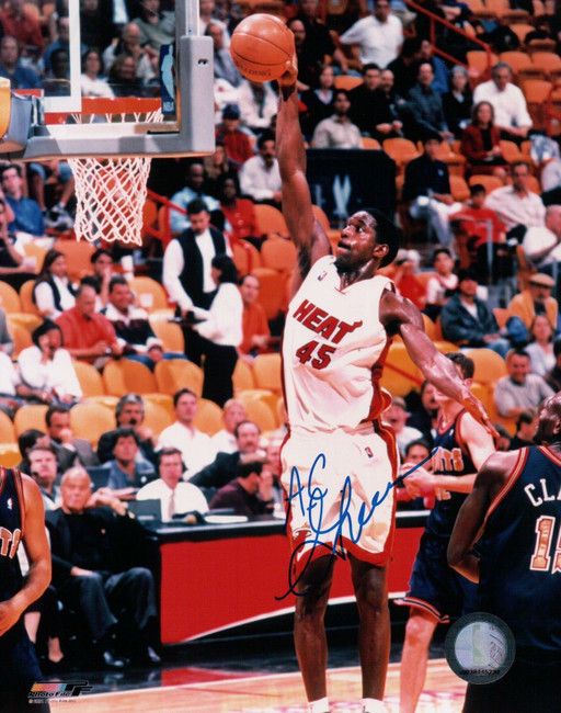 A.C. Green Signed 8X10 Autograph Photo Dunking Miami Heat Auto w/COA
