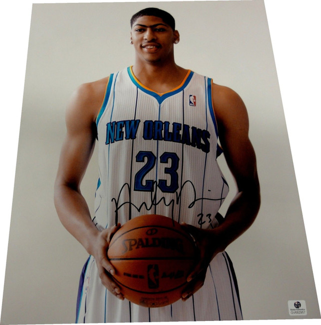 Anthony Davis Signed Autographed 11x14 Photograph New Orleans Hornets GA 782957