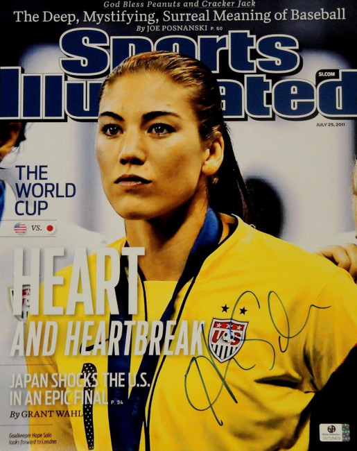 Hope Solo Signed Autographed Jumbo 11x14  Photo GA USA 2012 Olympic Gold 728429