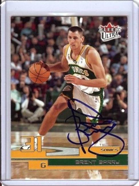 Brent Barry 02-03 Fleer Ultra Card Auto Autograph