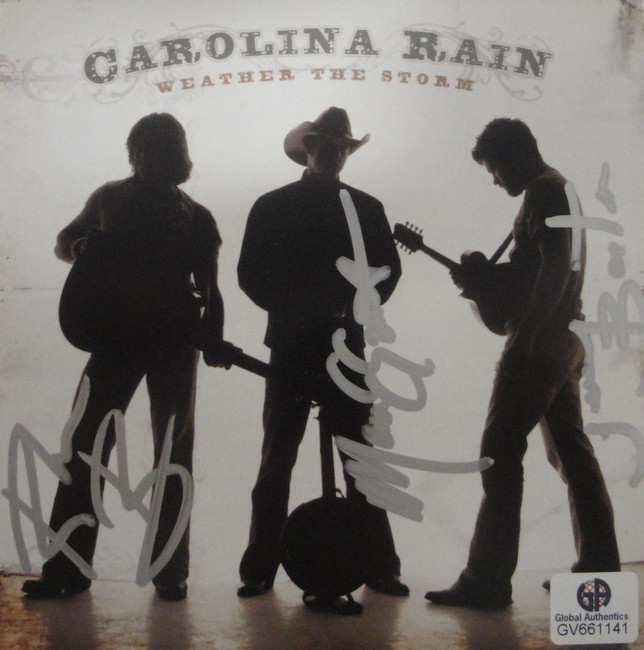 Carolina Rain Band Signed Autographed CD Cover Weather The Storm GA GV 661141