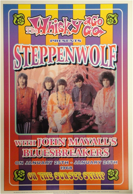 Steppenwolf John Mayall's Bluesbreakers Whisky a Go Go 13x19 UNSIGNED Poster