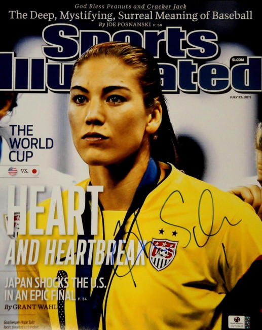 Hope Solo Signed Autographed Jumbo 11x14  Photo GA USA 2012 Olympic Gold 728428