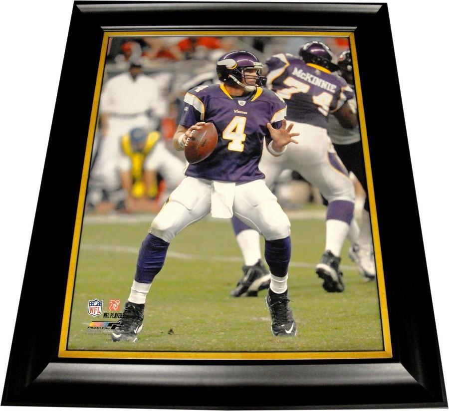 Brett Favre UnSigned Custom Framed 16X20 Canvas Minnesota Viking