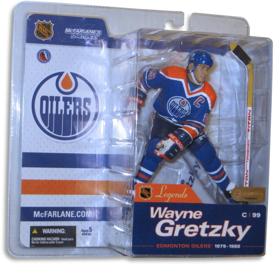 Wayne Gretzky McFarlane Legends Series 1 NIB Figure Edmonton Oilers Blue Jersey