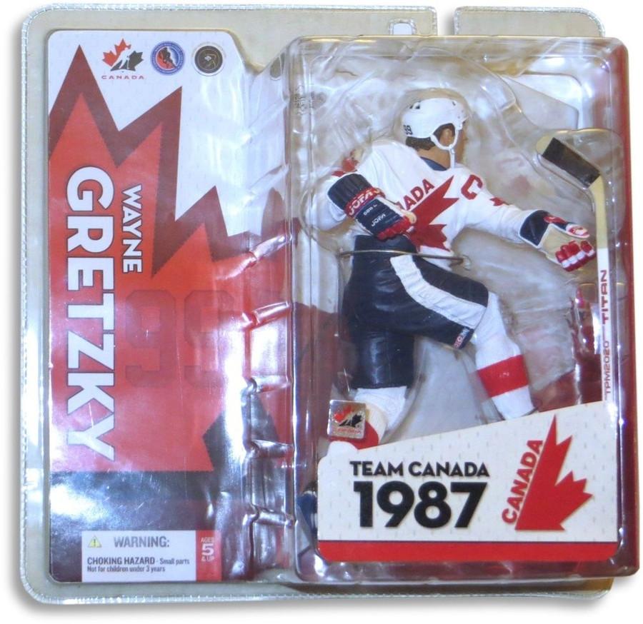 Wayne Gretzky McFarlane 2005 Team Canada 1987 White Jersey Version