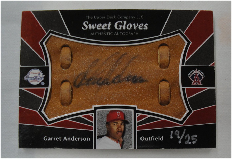 Garret Anderson 2004 UD Sweet Spot Gloves Auto Autograph Angels #SS-GA 19/25