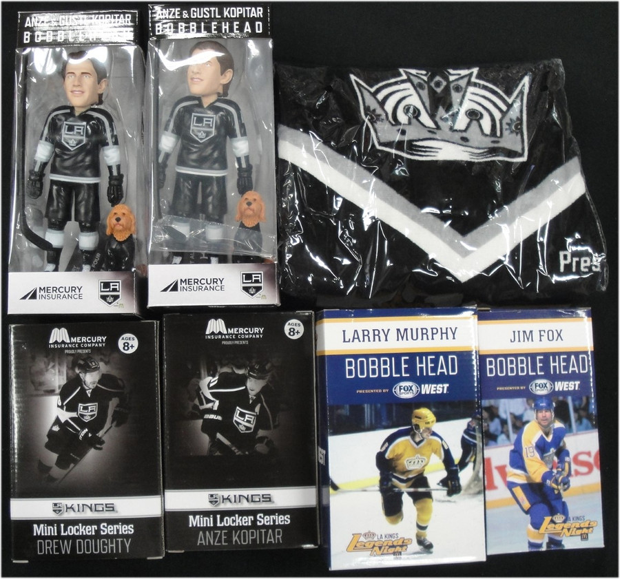Drew Doughty Anze Kopitar Locker 2x Kopitar 1x Fox 1x Murphy Bobble Head Towel