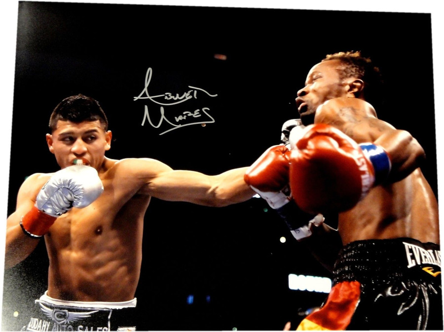 Abner Mares Hand Signed Autograph 16x20 Photo Throwing Big Punch Abs W/ COA