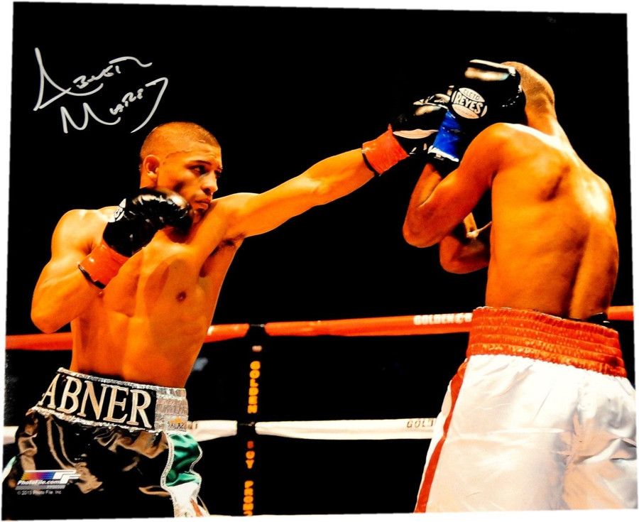 Abner Mares Hand Signed Autograph 16x20 Photo Throwing Big Punch Straight W/ COA
