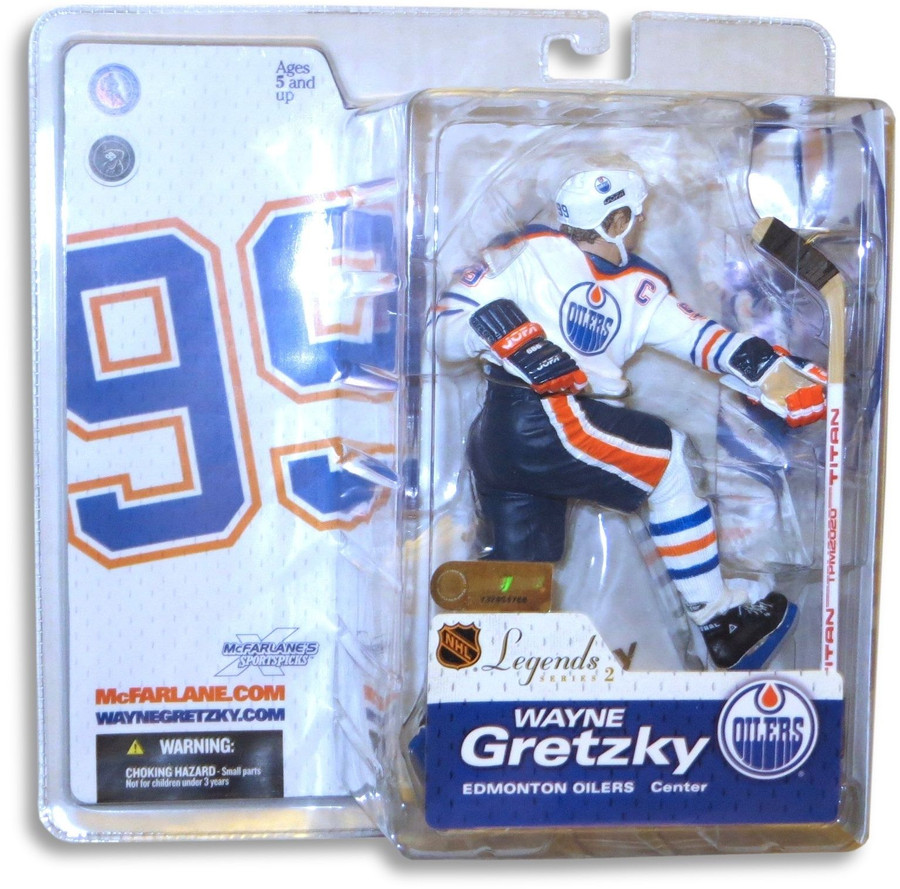 Wayne Gretzky McFarlane Legends Series 2 Figure Oilers White Chase Variant
