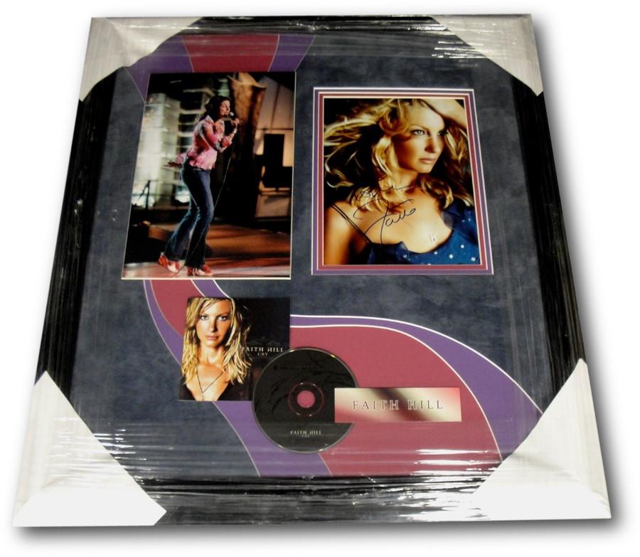 Faith Hill Hand Signed 8x10 Photograph Custom Framed W/ CD +11x14 Gorgeous GA