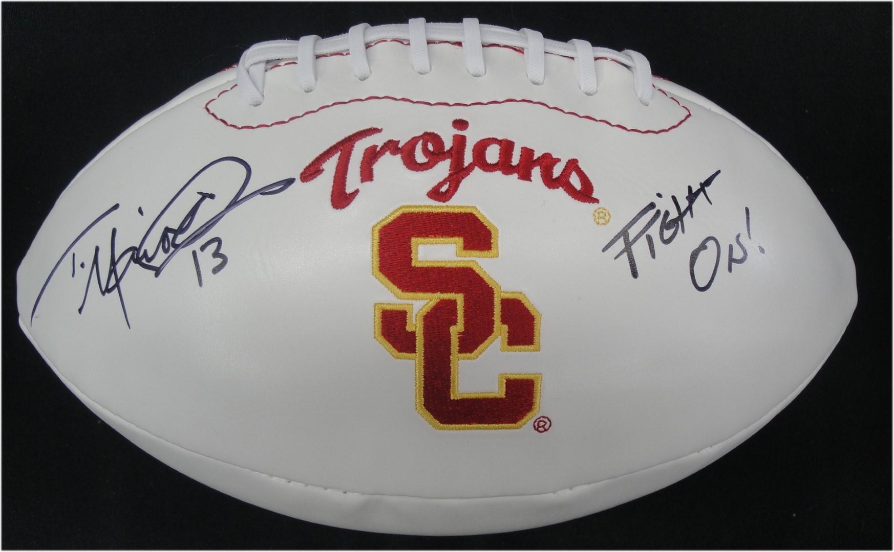 COA Todd Marinovich Hand Signd Autographed Football Mini Helmet USC Trojans #13