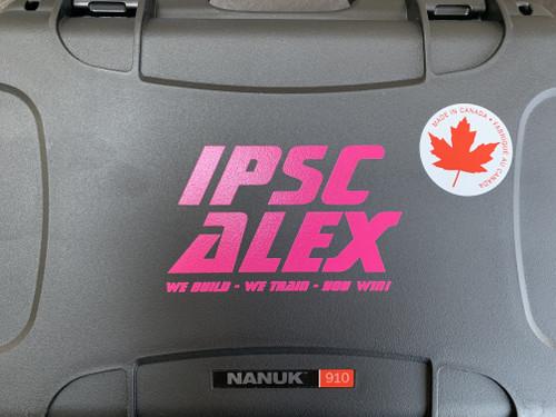 Custom IPSCALEX Nanuk 910 pistol case